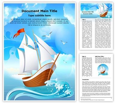 Sailboat Transportation Editable Word Document Template