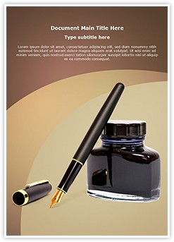 Fountain Pen Ink Editable Word Template