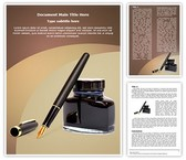 Fountain Pen Ink Template