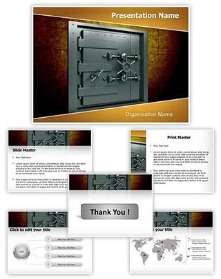 Bank Vault Editable PowerPoint Template