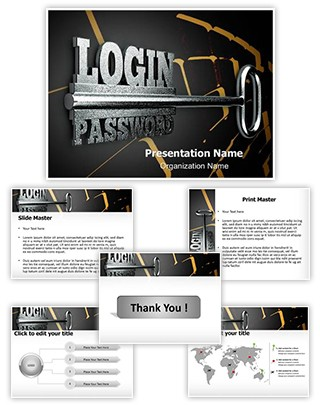 Login Password Editable PowerPoint Template