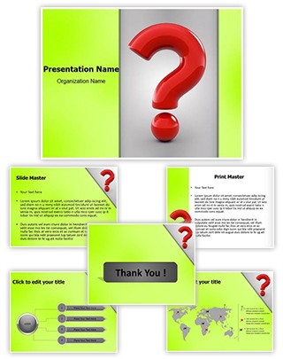 Question Mark Editable PowerPoint Template