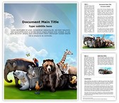 Wild Animals Editable Word Template