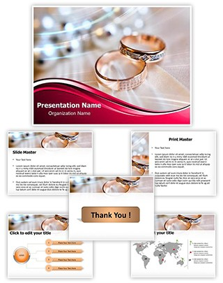 Wedding Rings Editable PowerPoint Template