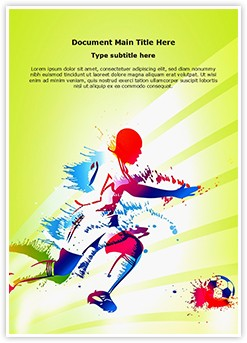 Sports Training Soccer Player Editable Word Template