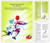 Sports Training Soccer Player Template