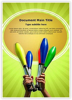 Juggling Clubs Editable Word Template