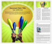 Juggling Clubs Template