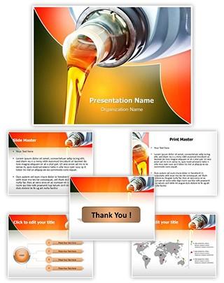 Industrial Engine Oil Editable PowerPoint Template