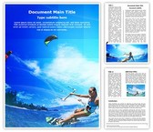 Kitesurfing Editable Word Template