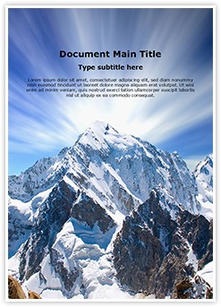 Mount Everest Editable Word Template