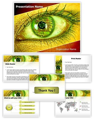 Bionic Eye Editable PowerPoint Template