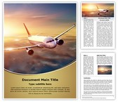 Airplane Editable Word Template