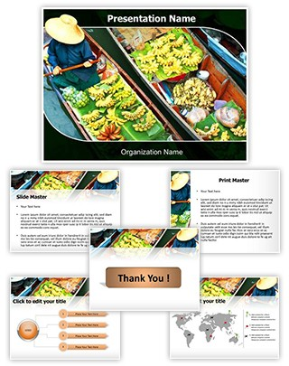 Floating Market Editable PowerPoint Template