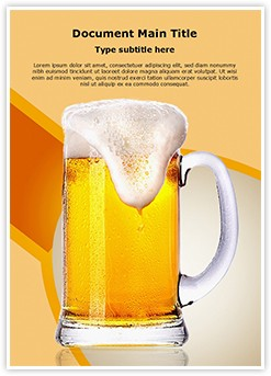 Beer Glass Editable Word Template