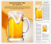 Beer Glass Editable Word Template