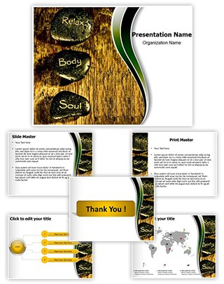 Reiki Stones Editable PowerPoint Template