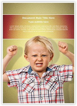 Child Oppositional Defiant Disorder Editable Word Template