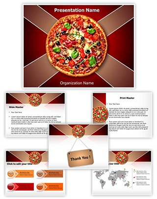 Italian Pizza Editable PowerPoint Template