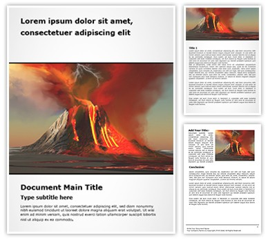 Volcano Free Word Template