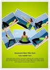 Yoga Exercises Collage