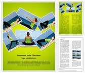 Yoga Exercises Collage Template