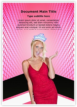 Pageant Editable Word Template