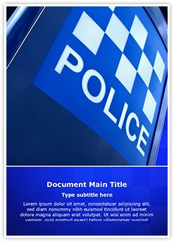 Police Station Editable Word Template