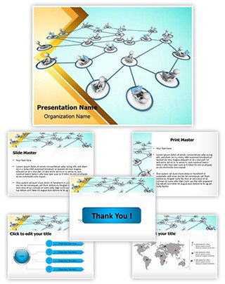 Cloud Networking Editable PowerPoint Template