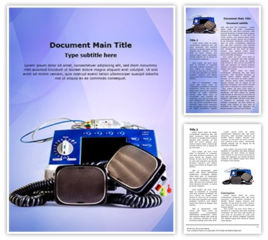 Defibrillator Editable Word Document Template