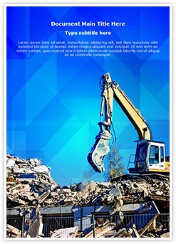 Demolition Editable Word Template