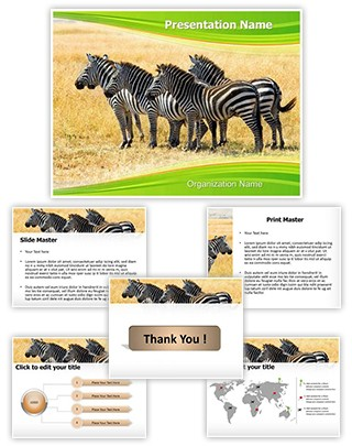 Equus Quagga Editable PowerPoint Template