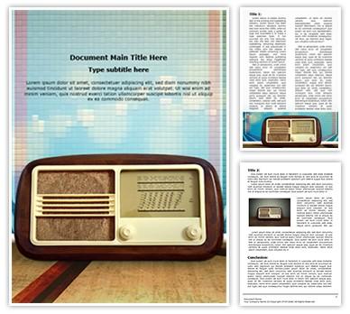Vintage Radio Editable Word Document Template
