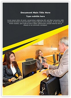 Front Office Desk Editable Word Template