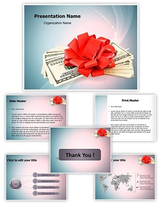 Cash Bonus Editable PowerPoint Template