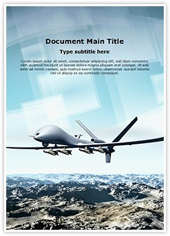 Drone Aircraft Editable Word Template