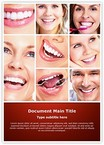 Dentistry Smiling Collage Word Templates