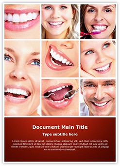 Dentistry Smiling Collage Editable Word Template