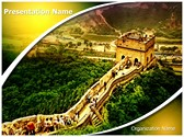 Great Wall of China Editable PowerPoint Template