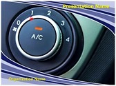 Air Conditioner Button Editable PowerPoint Template