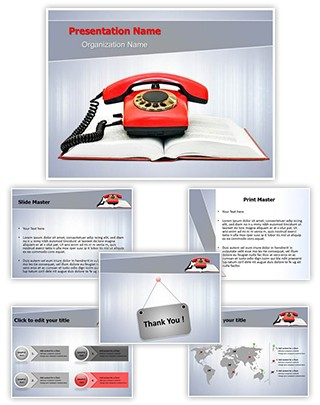 Phone Directory Editable PowerPoint Template