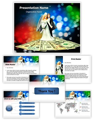 Marraige Expense Editable PowerPoint Template