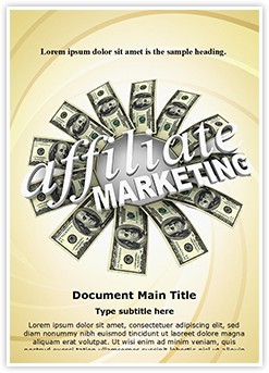 Affiliate Marketing Editable Word Template