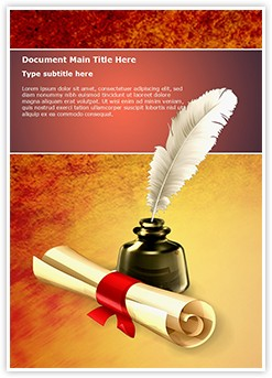 Ancient Scroll with Ink Editable Word Template