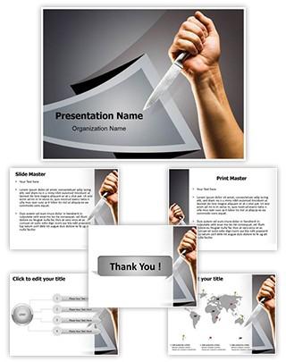 knife Killing Editable PowerPoint Template