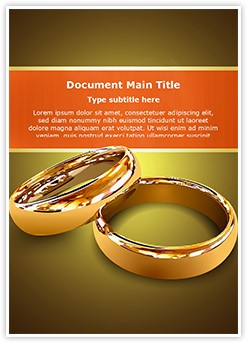Wedding Couple Rings Editable Word Template