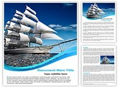 ship with sails Template