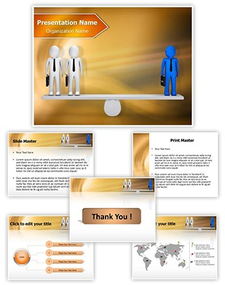 People on Seesaw Editable PowerPoint Template