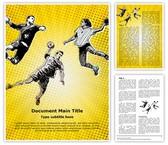 Handball Sports Player Editable Word Template