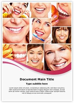 Healthy Teeth Collage Editable Word Template